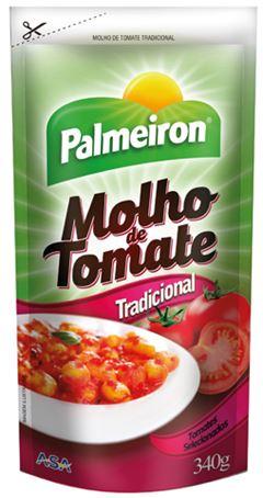 MOLHO DE TOMATE TRADICIONAL PALMEIRON SACHÊ 24X340g