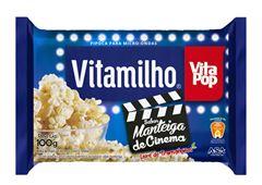 PIPOCA MICRO-ONDAS VITAPOP MANTEIGA DE CINEMA 24X100G