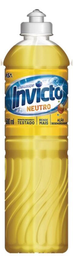 DETERGENTE LÍQUIDO INVICTO NEUTRO 24x500ml